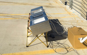 The water condenser is tested in direct sun.